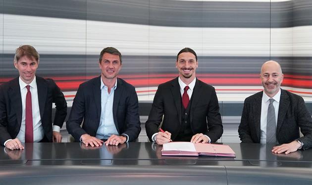 Официально: Ибрагимович продлил контракт с Миланом