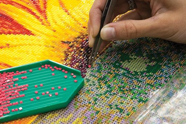 Современная алмазная вышивка – популярный вид творчества